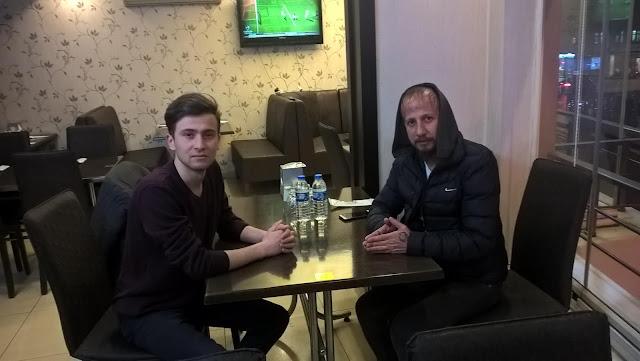 Harun İstenci Adli Muhabir Gürkan Yılmaz ile birlikte...