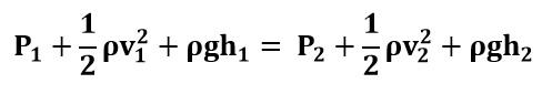 Ecuación de Bernoulli deducida