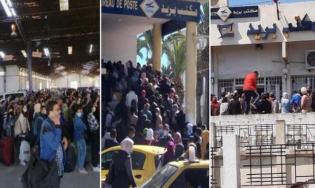 تونس: اكتظاظ و ازدحام في محطات النقل ومكاتب البريد والأسواق وسط وضع صحّي خطير