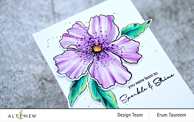 Altenew Sparkled Stamp Set + Artist Markers | Erum Tasneem | @pr0digy0