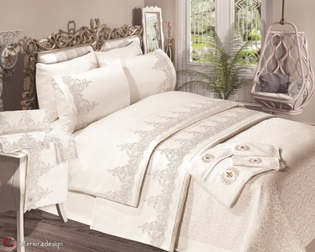 Modern Bed Embroidered Linens 4