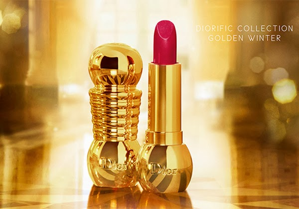 DIOR Natale 2013 Golden Winter Collection make up Diorific lipstick Diorific vernis Diorific Duo Manicure Bijou Diorific Parfumed Illuminating Powder Rose d'Or