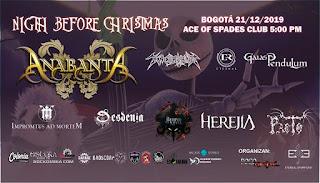 Concierto de ANANBANTA en Bogotá | Nigth Before Christmas