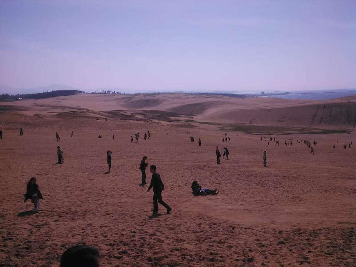 鳥取砂丘を歩く人々