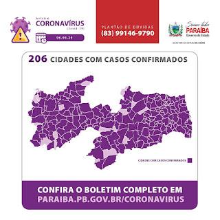 867 é a quantidade de infectados de covid-19 que Guarabira tem agora. A cidade, entre 206 paraibanas, segue em quarto lugar.