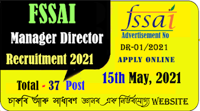 FSSAI Manager Director Recruitment 2021