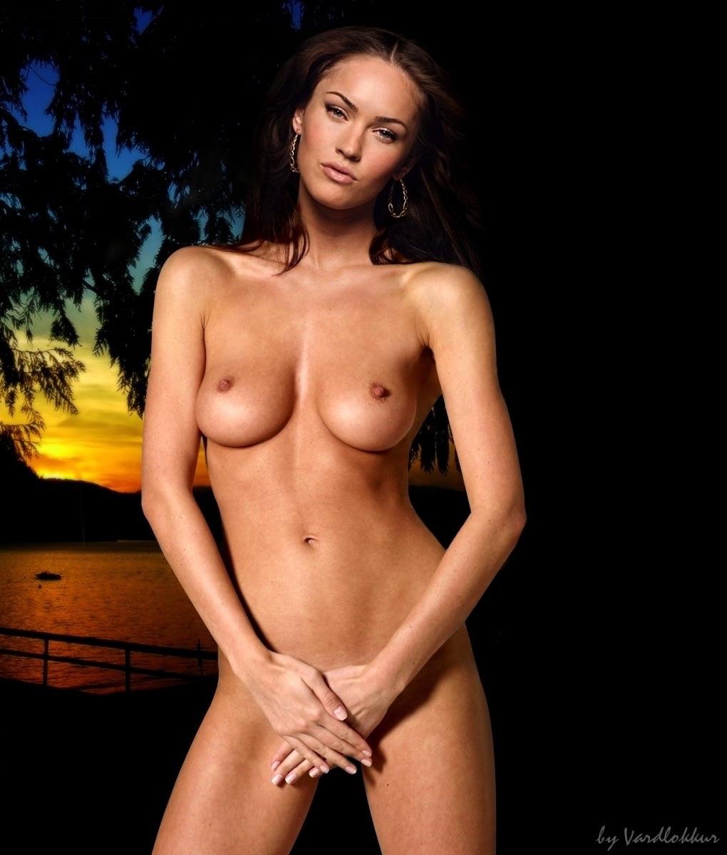 Megan Fox Hiding Pussy Showing Boobs