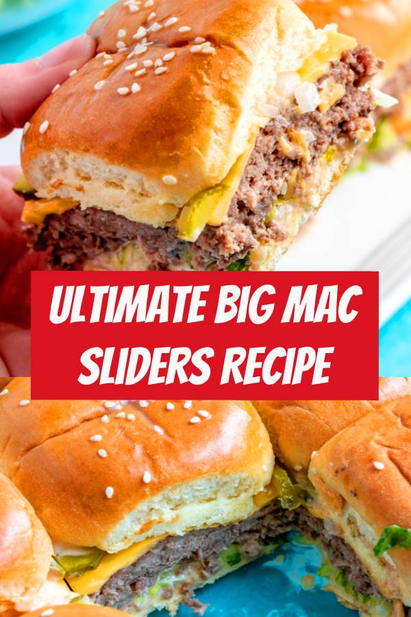 The Ultimate Big Mac Sliders Recipe | The ultimate sandwich in a handy mini form. These Big Mac Sliders have all the fixings that make the Big Mac so special, but in a smaller form that fits easily in one hand. #familyfreshmeals #appetizer #bigmac #copycat #easyrecipe #sliders