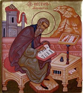 Преподобный Нестор Летописец - икона