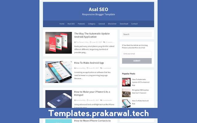 Asal SEO Free Blogger Template