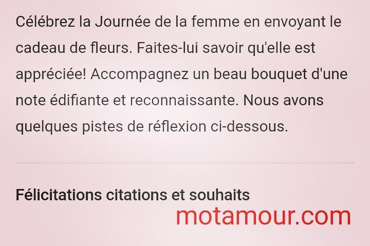 6 Mars 2021 Messages De La Journee De La Femme