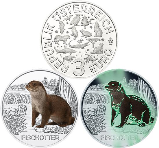 Austria 3 euro 2019 - The Otter