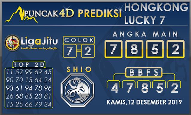 PREDIKSI TOGEL HONGKONG LUCKY7 PUNCAK4D 12 DESEMBER 2019