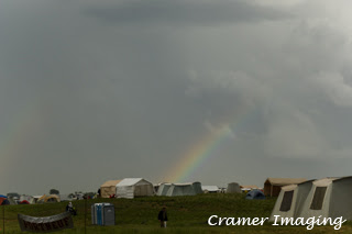 Cramer Imaging's photograph of the Grand Teton Council 2016 Jamboral with a rainbow in the sky in Firth, Idaho