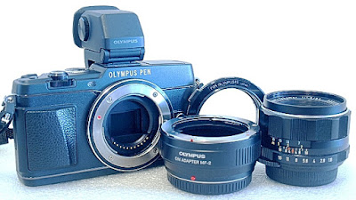 Olympus E-P5, Olympus OM Adapter MF-2, Olympus OM/49mm Reverse Ring, Super Takumar 55mm F1.8