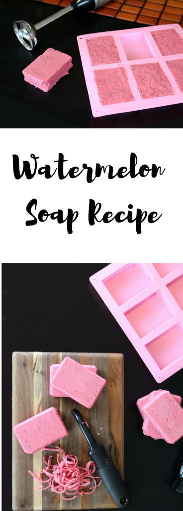Watermelon Soap Recipe with Real Watermelon Fruit