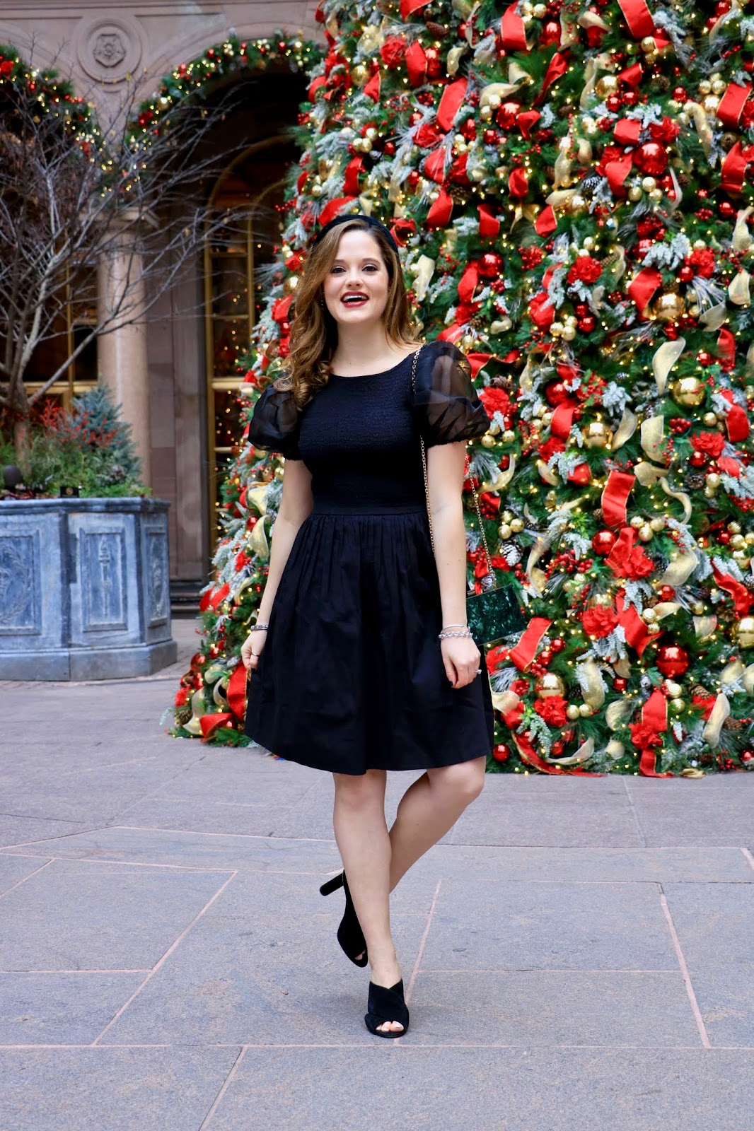 Nyc fashion blogger Kathleen Harper wearing an Officially Quigley dress from Amazon's The Drop collection.