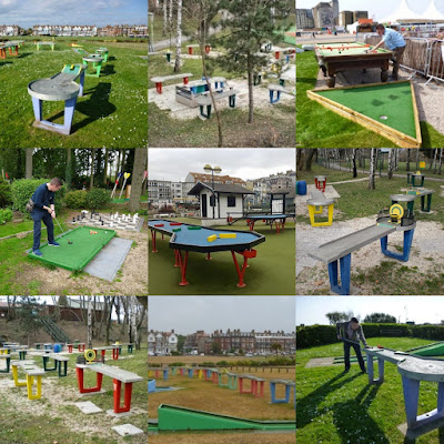 A selection of the minigolf and cue-sport crossovers we've seen on our travels