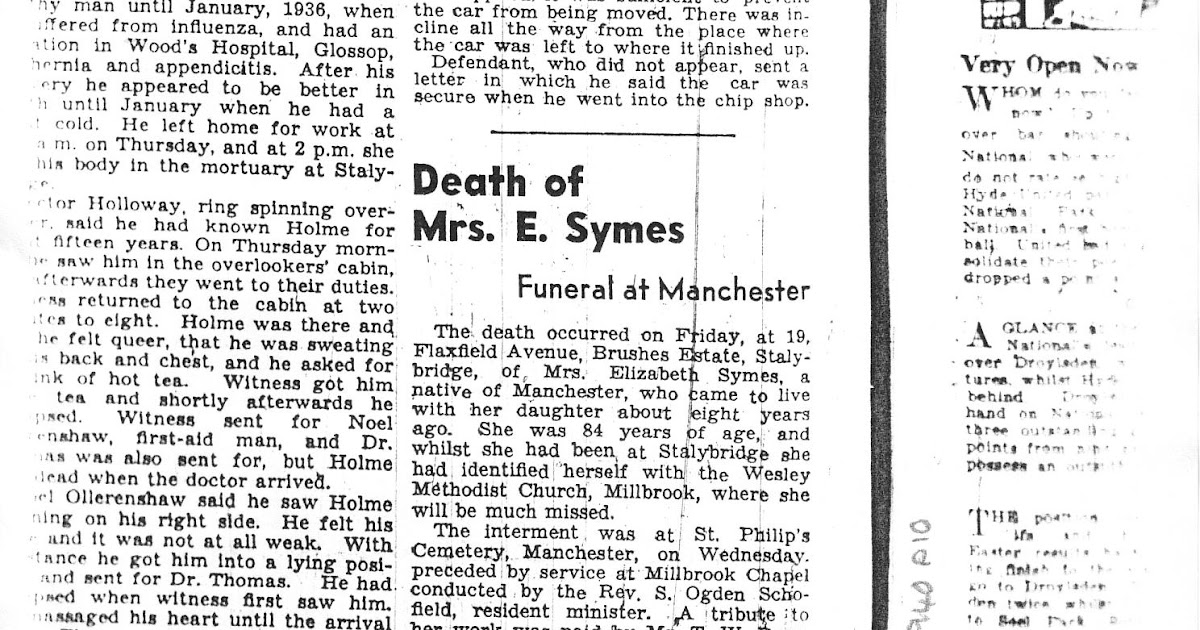Search My Ancestry: Family Records: Obituaries