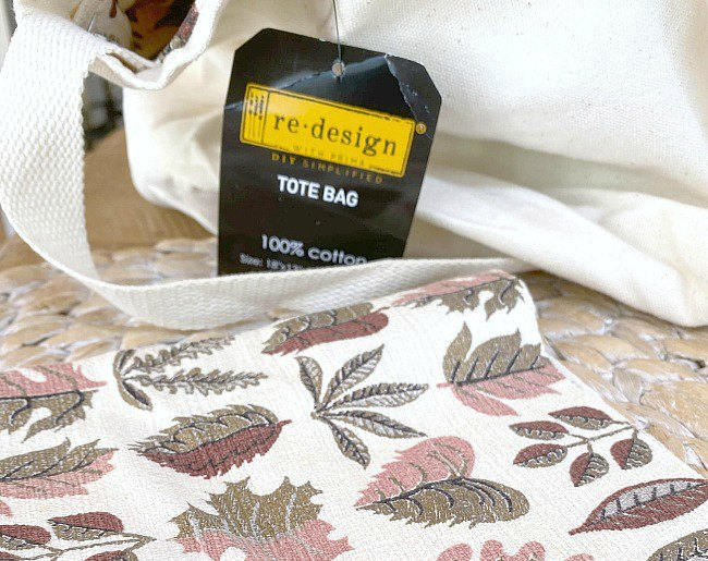 DIY Summer Tote Bag with Bark Cloth Vintage Liner