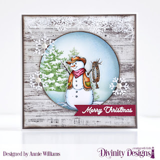 Stamp/Die Duos: Country Christmas, Custom Dies: Pennant Flags, Pierced Circles, Christmas Dove, Paper Collections: Rustic Christmas, Christmas 2018