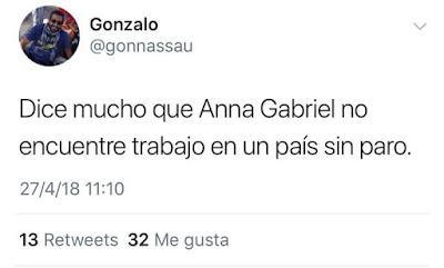 Dice mucho que Anna Gabriel no encuentre trabajo en un país sin paro