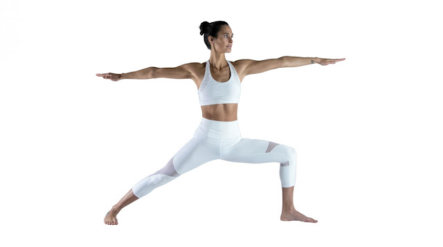 Virabhadrasana 2, yoga pose, warrior pose 2