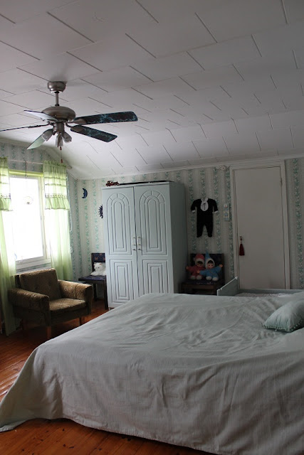 makuuhuone, hempeä, kaappi, rintamamiestalo