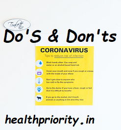 Follow These Do's And Don'ts Tootect Yourself and Protect Others Novel Corona Virus (COVID-19)
