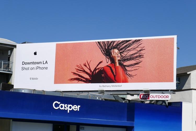 Downtown LA Shot on iPhone billboard