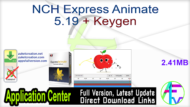 NCH Express Animate 5.19 + Keygen