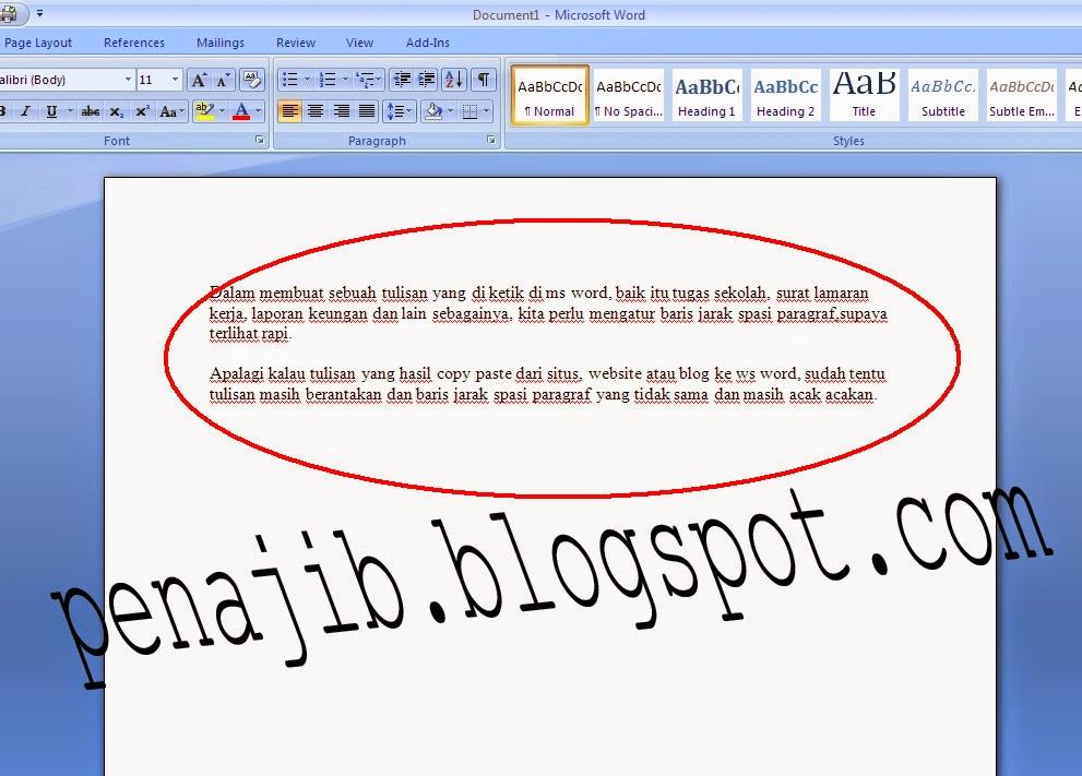 Cara Mengatur Jarak Spasi Baris Paragraf Di Microsoft Word ...
