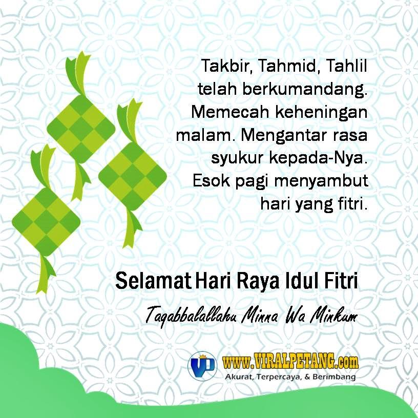 """Segenap Kru Redaksi Online News ViralPetang.Com Mengucapkan """"Selamat Hari Raya Idul Fitri 1 Syawal 1441 Hijriyah"""""""