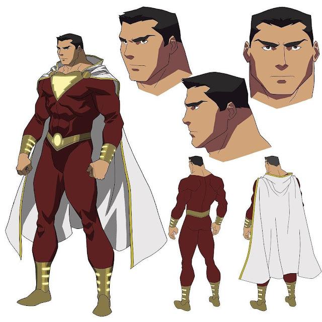 Desain Karakter dan Kostum Shazam di Justice League War