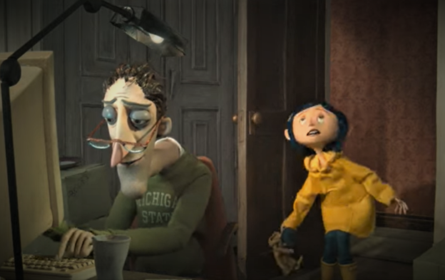 Coraline and her Dad