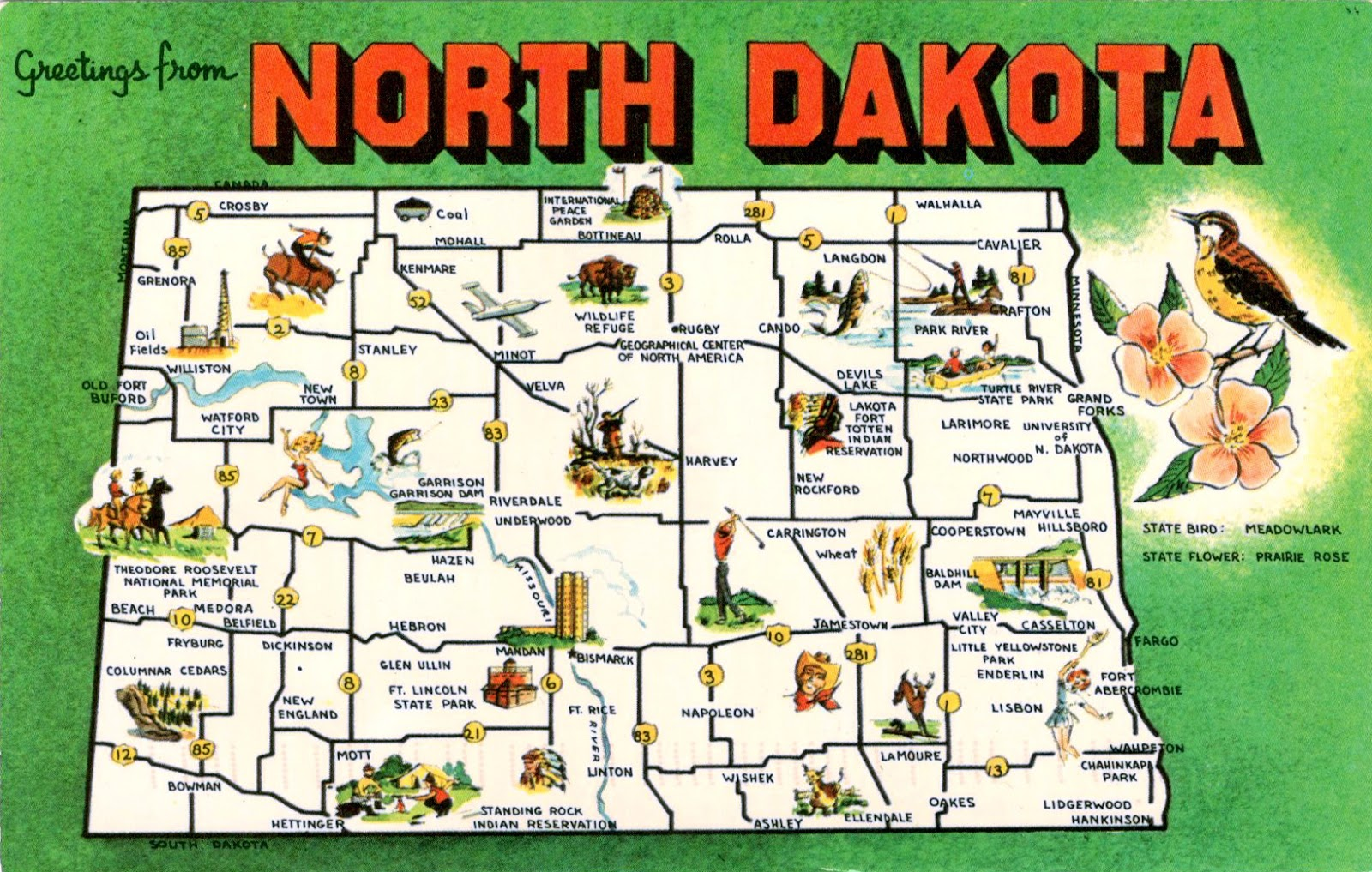 WORLD COME TO MY HOME  UNITED STATES North Dakota North - Map of the us with dakotas together