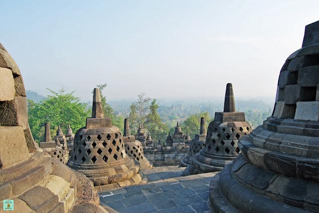 Borobudur en Java, Indonesia