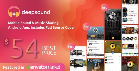 DeepSound Android v1.8 - Mobile Sound & Music Sharing Platform Mobile Android Application