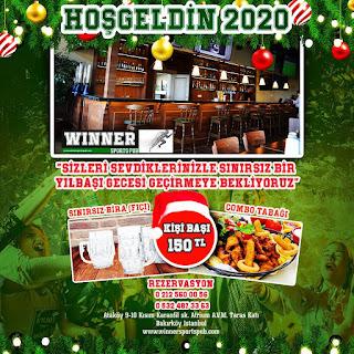 Winner Sport Club İstanbul Yılbaşı Programı 2020 Menüsü