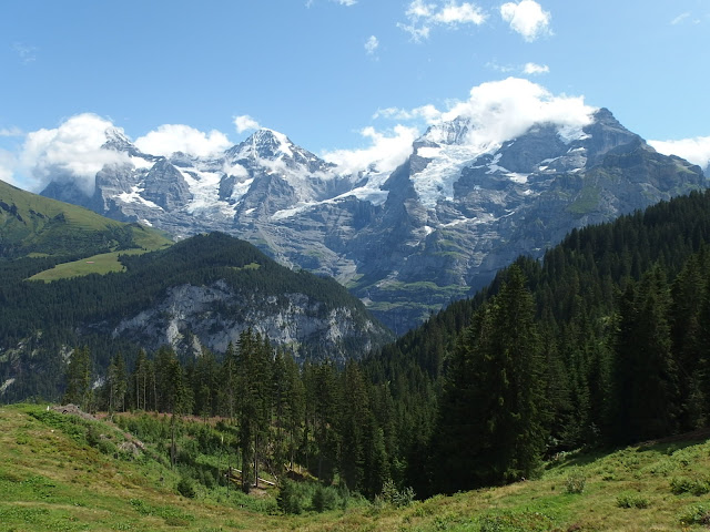 The Eiger, Monch and Jungfrau from Murren