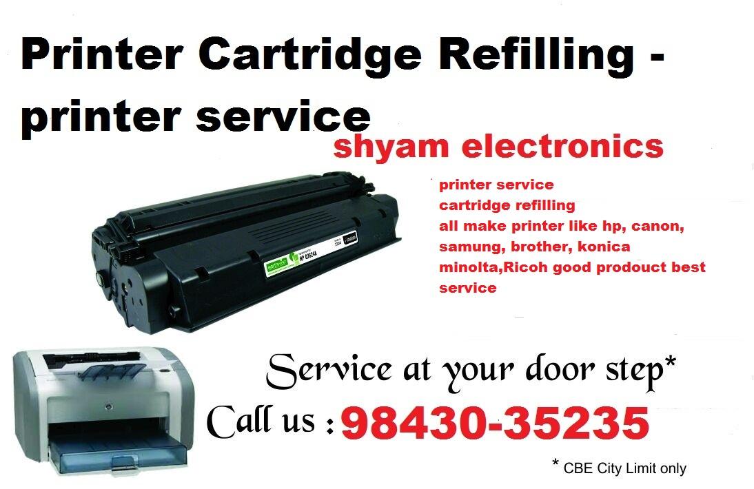 Printer Cartridge Refill/ Printer service center Coimbatore
