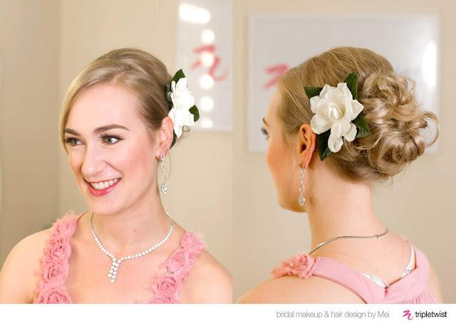 Blooming Flowers Wedding Hairstyles For Short Hair