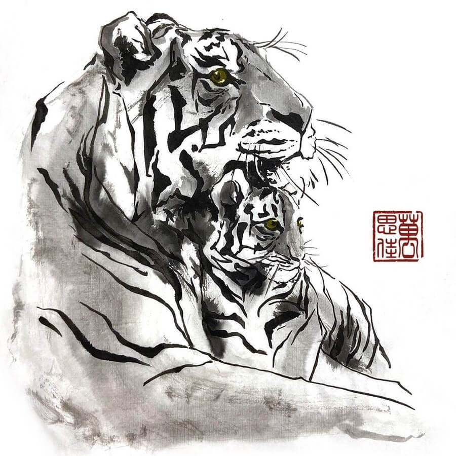 05-Tiger-and-Cub-Dirk-Swan-www-designstack-co