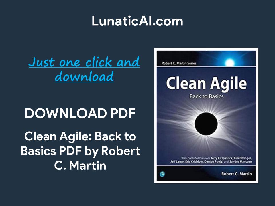 clean agile: back to basics pdf github