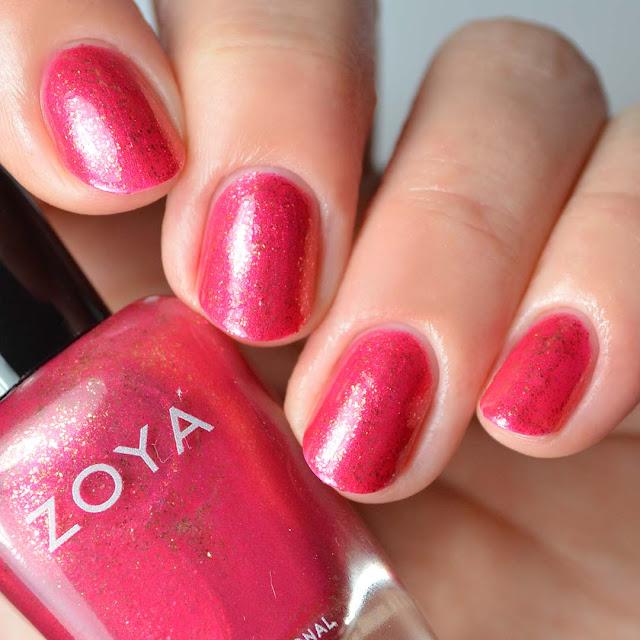 raspberry shimmer nail polish