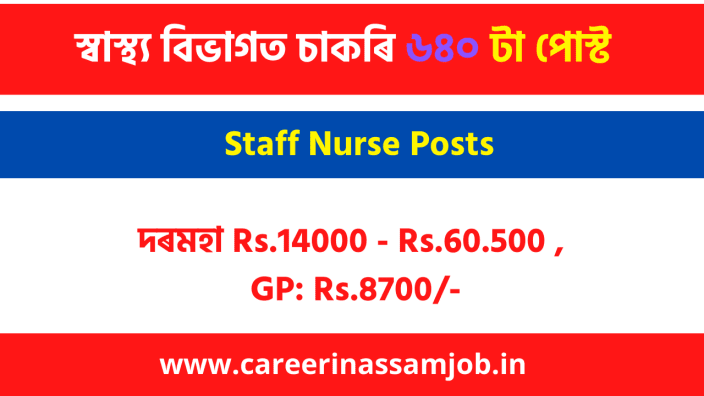 Health Assam Nurse Job | Assam Career