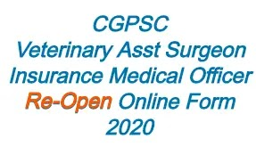 CGPSC Re-Open Online Form 2020