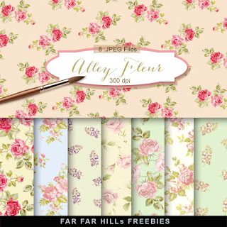 New Freebies Kit of Backgrounds - Alley Fleur