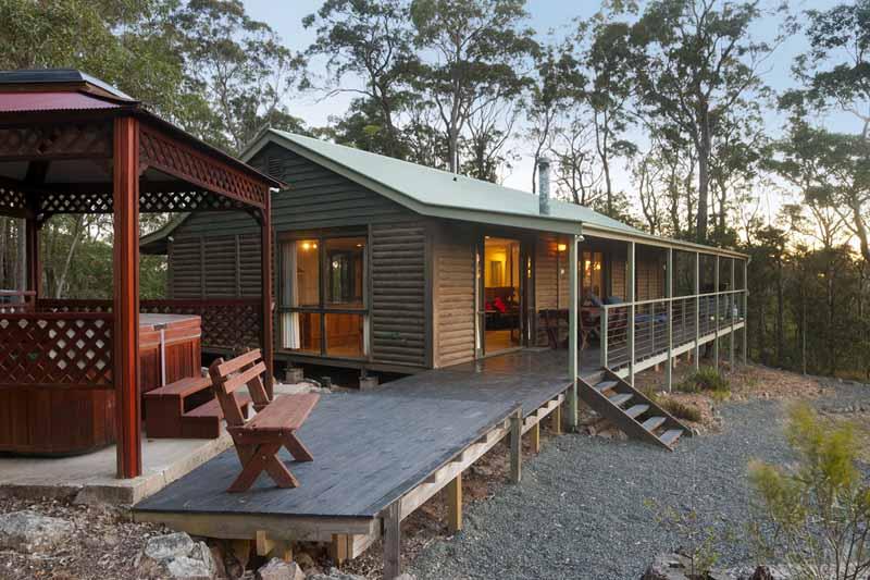 Mountaintop Escapes Spa Cabin Upper Hunter Barrington Cabins