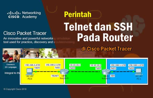 Cara Konfigurasi Telnet dan SSH Pada Router di Packet Tracer